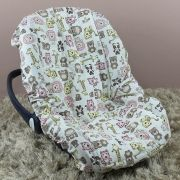 Capa de Bebê Conforto Adapt Bichinhos Rosa