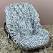 Capa de Bebê Conforto Adapt - Chevron Marinho