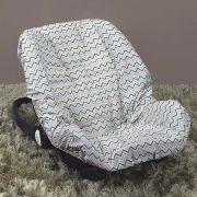 Capa de Bebê Conforto Adapt Chevron Rosa Colorido