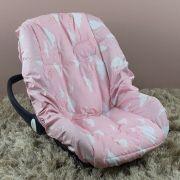 Capa de Bebê Conforto Adapt Chuva de Benção Rosa