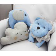 Conjunto com 3 Almofadas Decorativas Azul