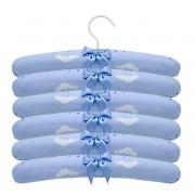 Jogo de Cabides 6pçs Chuva de Benção Azul