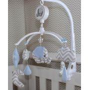 Móbile Musical - Elefante Azul Bebê