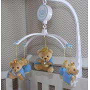 Móbile Musical - Ursinhos Rei Azul Bebê