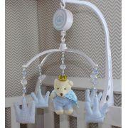 Móbile Musical - Urso Rei Azul Bebê