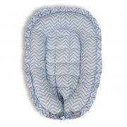 Ninho para Bebê Chevron Azul