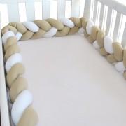 Protetor de Berço Trança 2,80 Mts - Caqui com Branco
