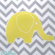 Quadro Decorativo Elefante Amarelo