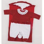 Saída de Maternidade Poá com Saco de Bebê Vermelho