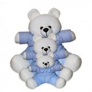 Trio de Ursinhos - Listrado Azul