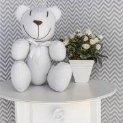 Ursinho  - Piquet Branco com Laço Branco
