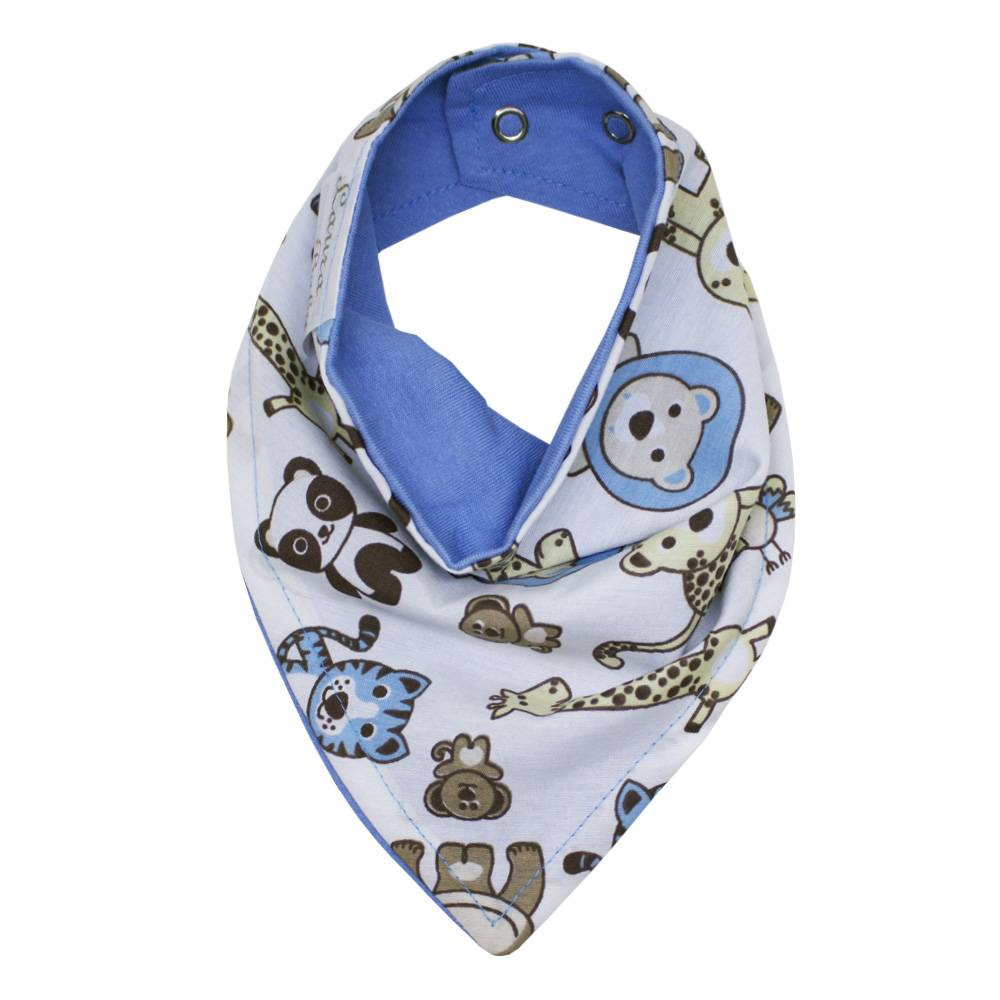 Babador de Bandana - Bichinhos Azul