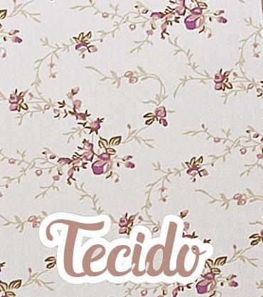 Kit de Berço Rolinhos 4 peças - Floral Ferrugem