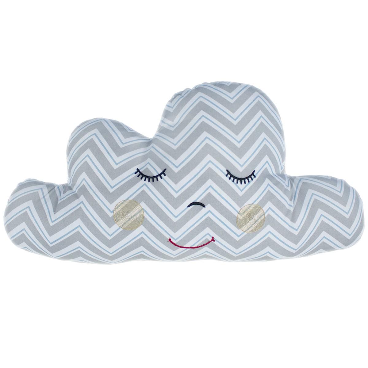 Almofada Nuvem Chevron Azul