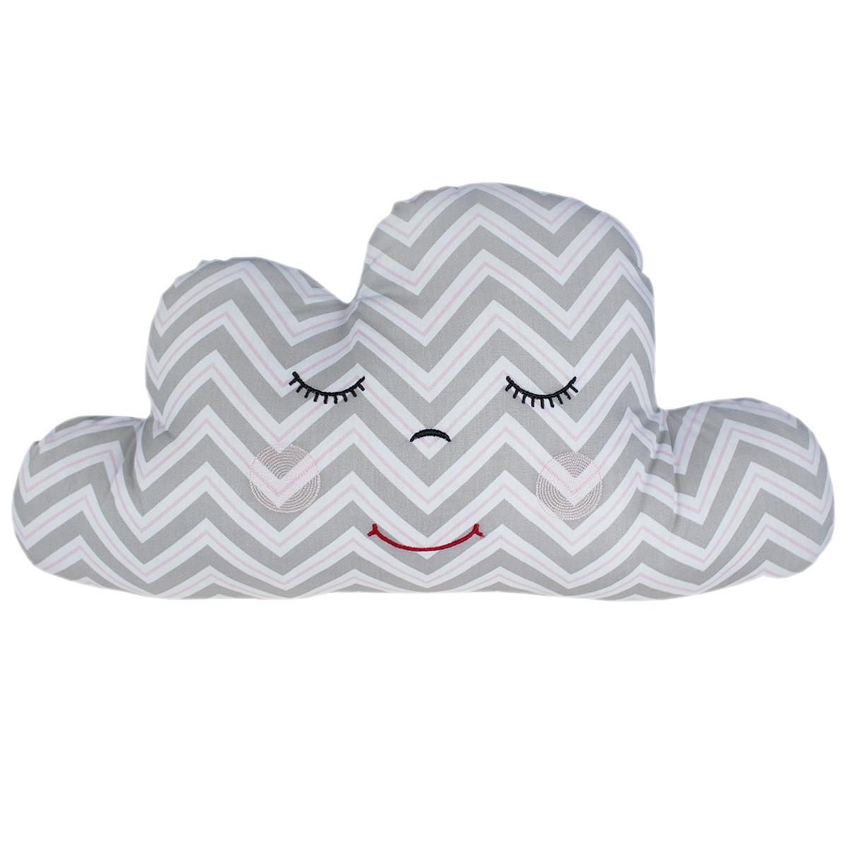Almofada Nuvem Chevron Rosa