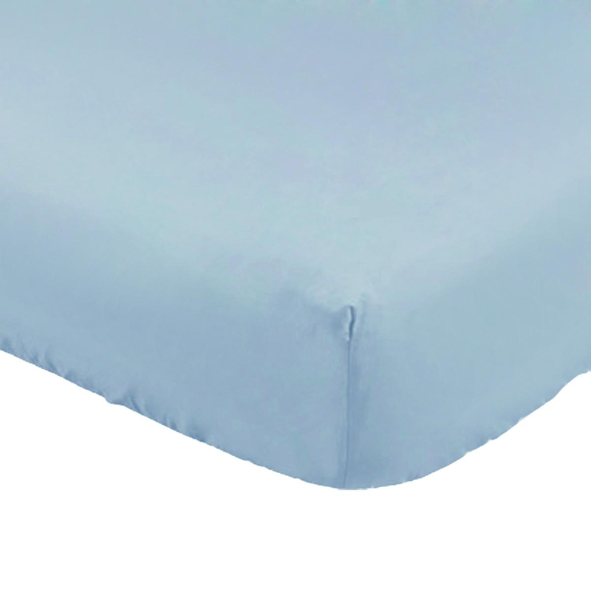 Lençol com Elástico para Mini Berço Azul