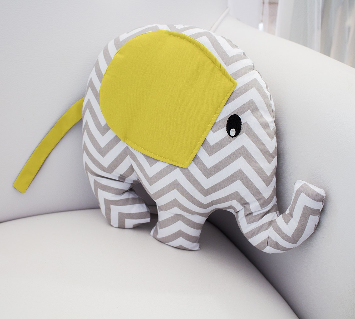 Enfeite Elefante - Chevron Amarelo