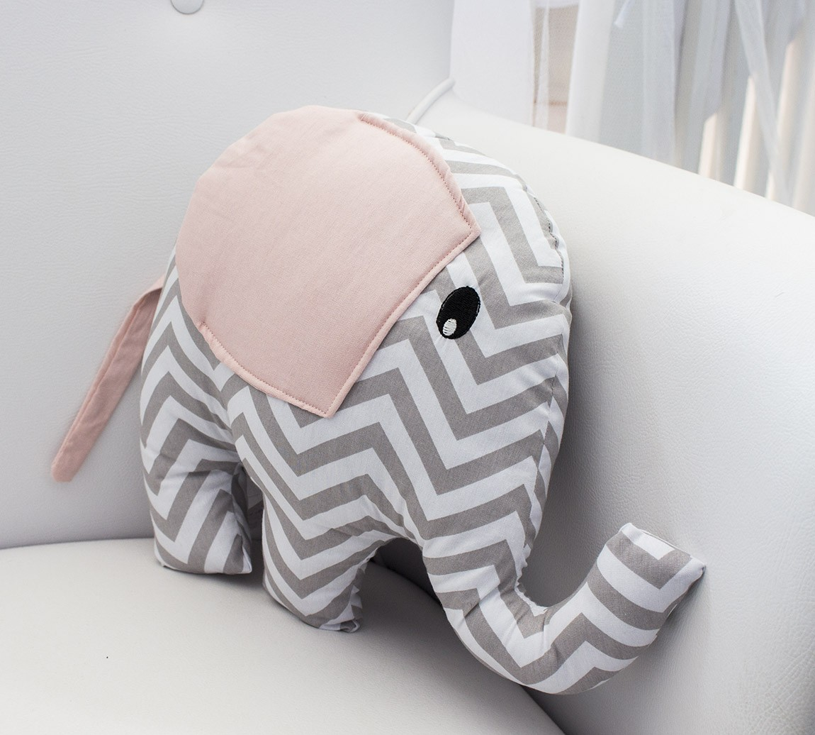 Enfeite Elefante - Chevron Rosa