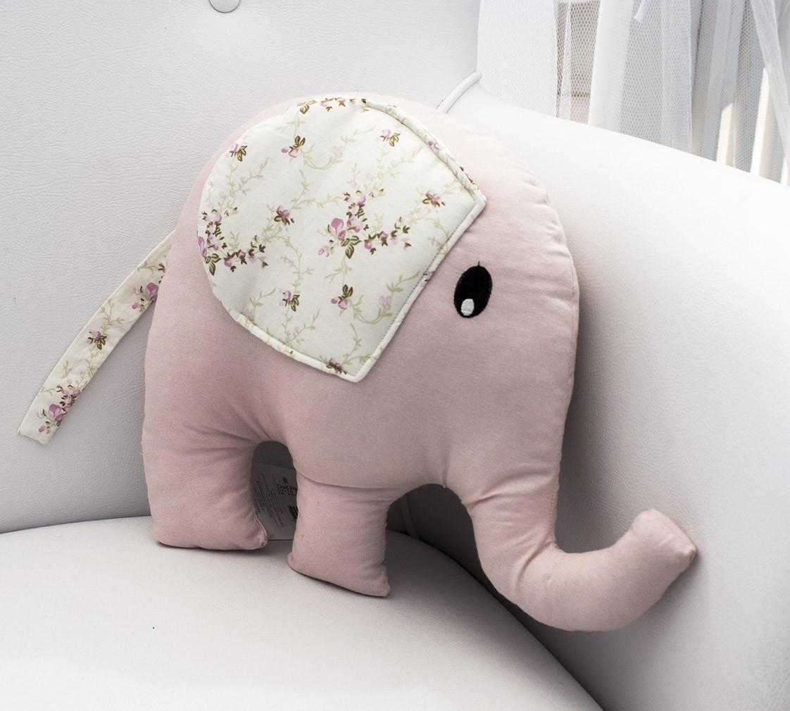 Enfeite Elefante - Floral Rosa