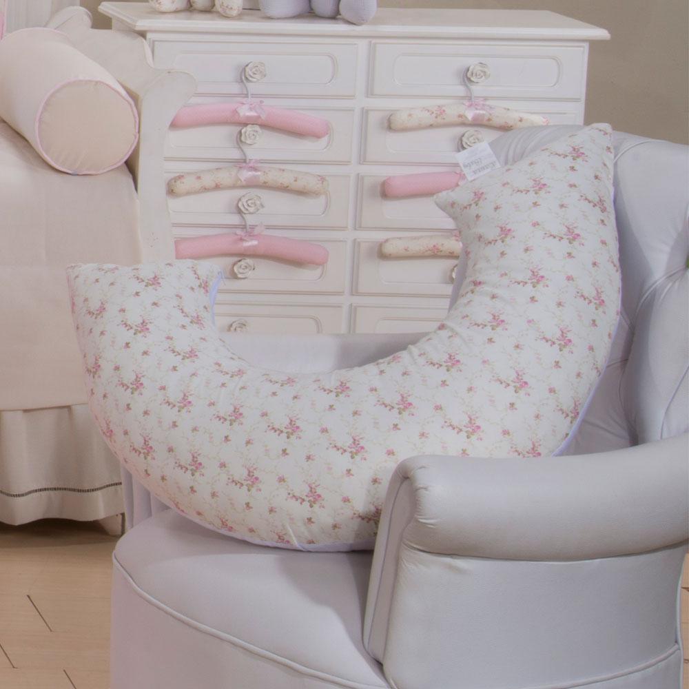 Almofada de Amamentação - Floral Rosa