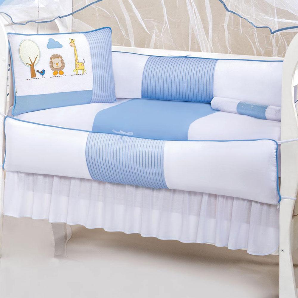 Kit Berço Baby 9 peças - Safari Azul
