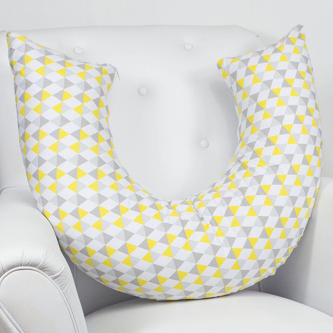 Almofada de Amamentação - Losango Amarelo