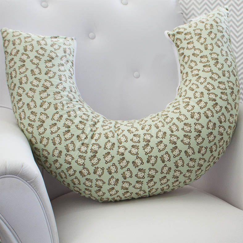 Almofada de Amamentação Macaquinho Verde