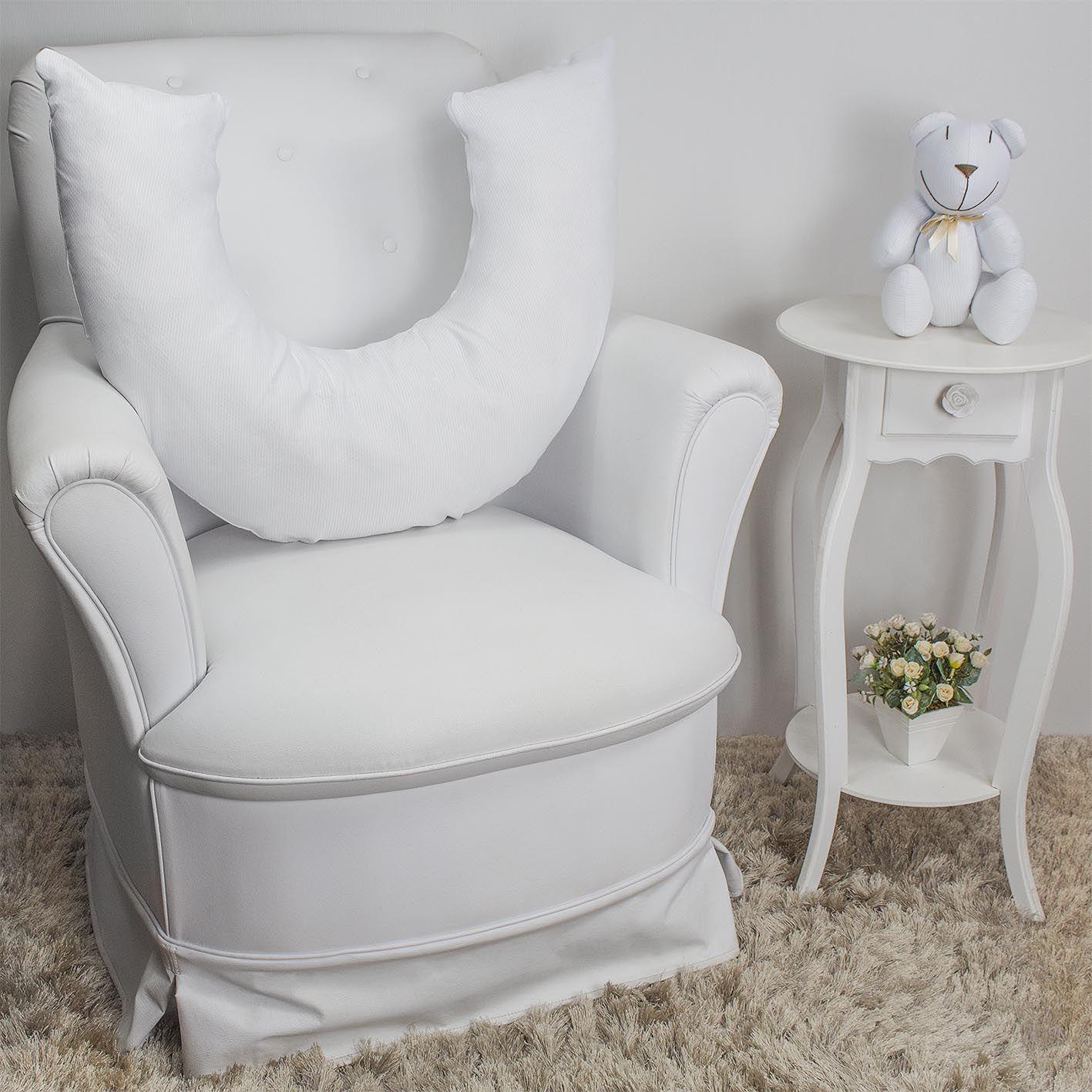 Almofada de Amamentação - Piquet Branco