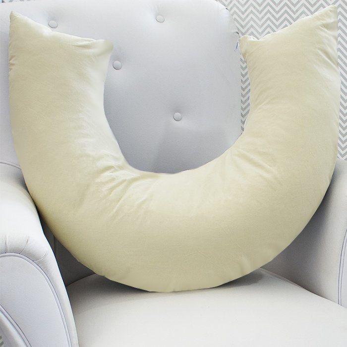 Almofada de Amamentação - Caqui com Branco