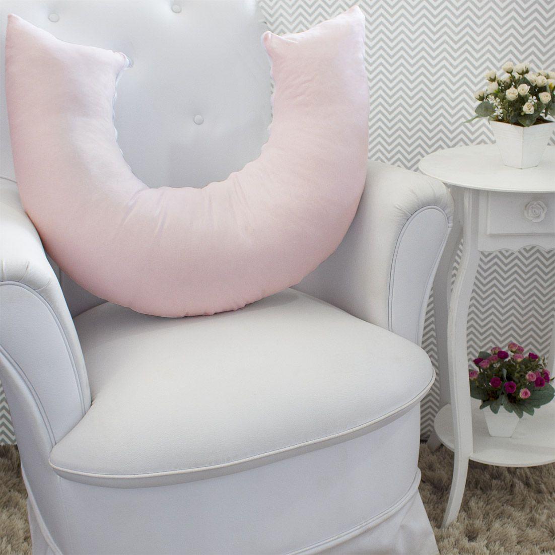 Almofada de Amamentação - Rosa com Branco