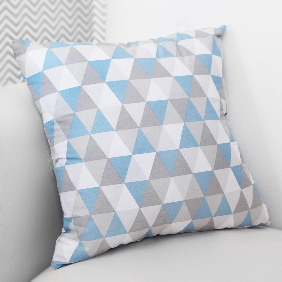 Almofada Decorativa Estampada - Losango Azul