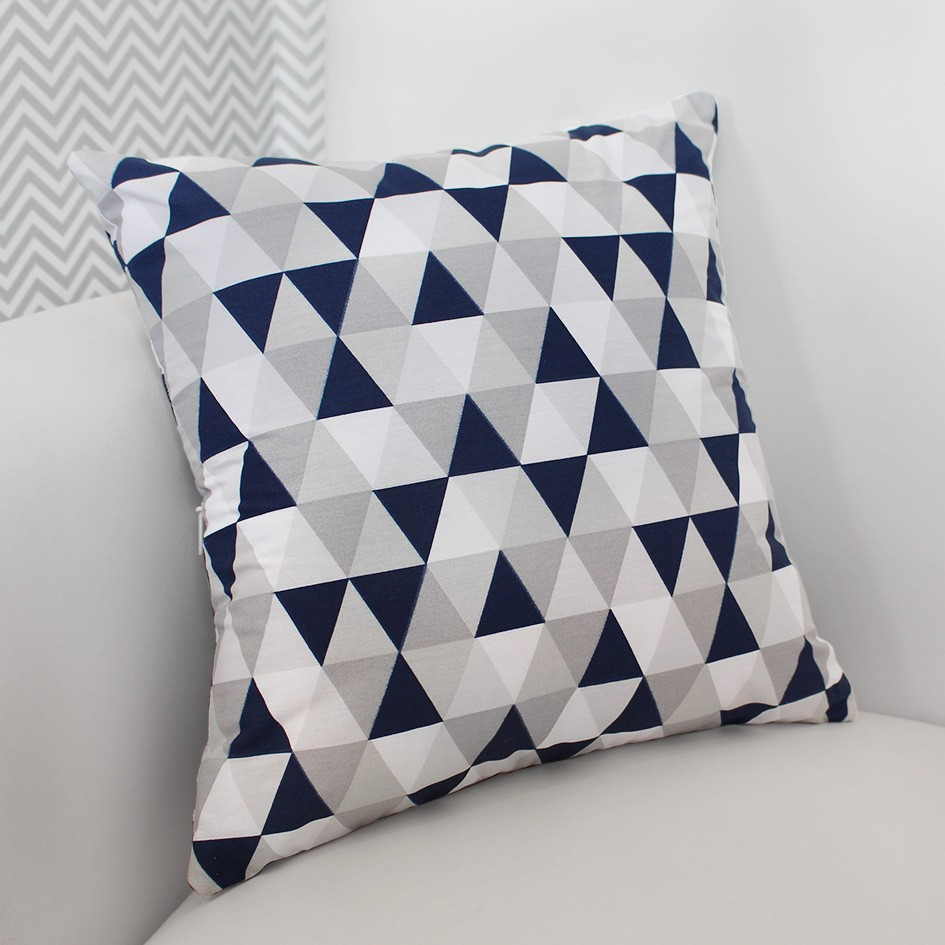 Almofada Decorativa Estampada - Losango Marinho
