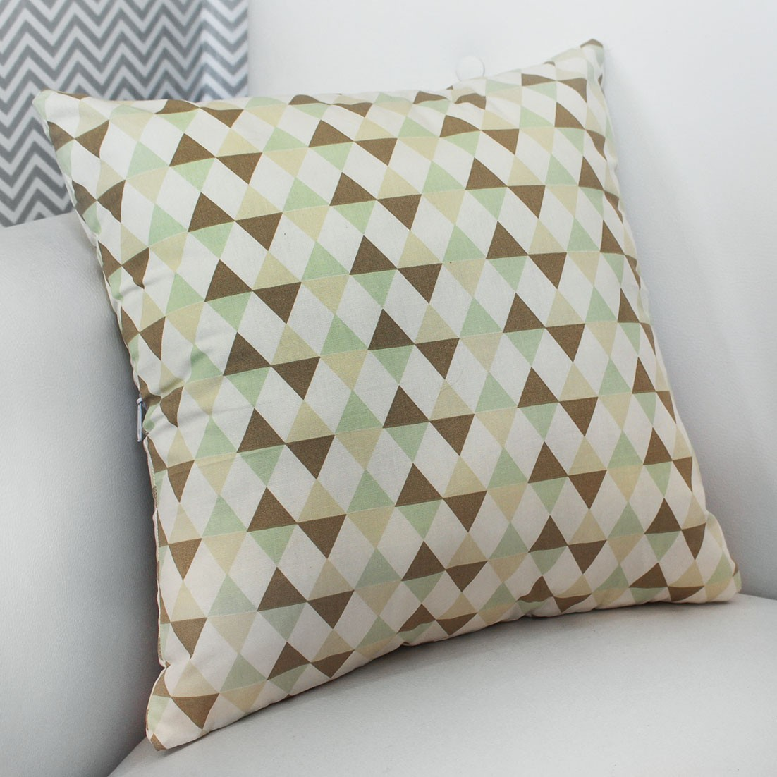 Almofada Decorativa Estampada Losango Verde