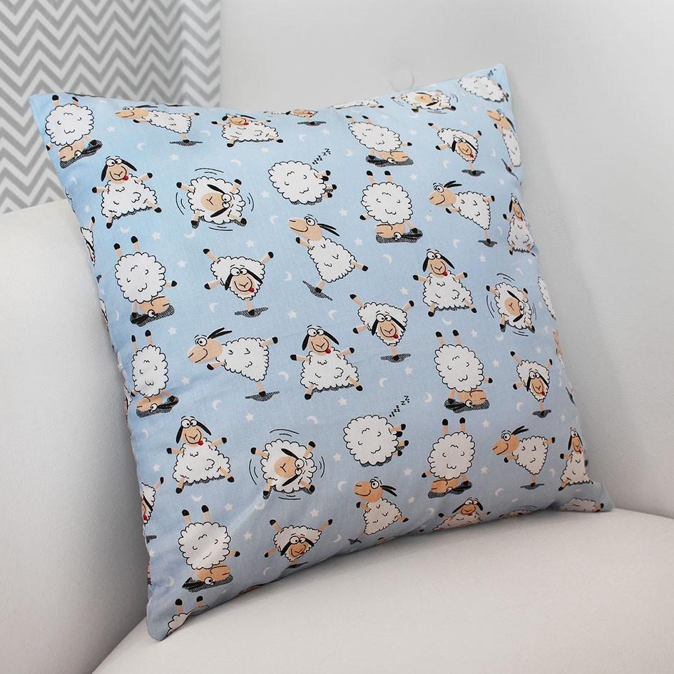 Almofada Decorativa Estampada Ovelha Azul