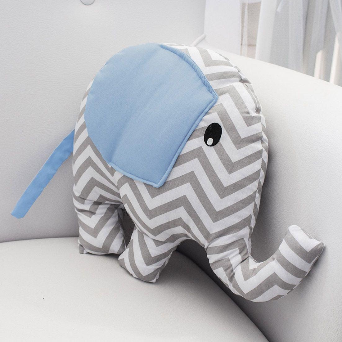 Enfeite Elefante - Chevron Azul