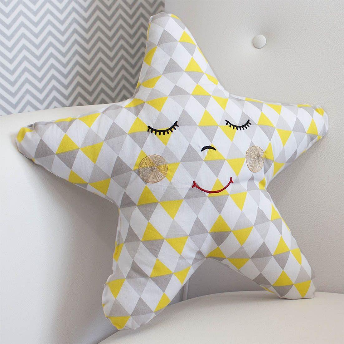 Almofada Estrela Losango Amarelo