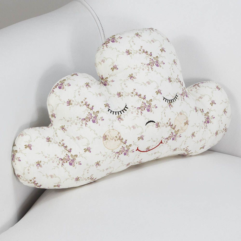 Almofada Nuvem - Floral Ferrugem