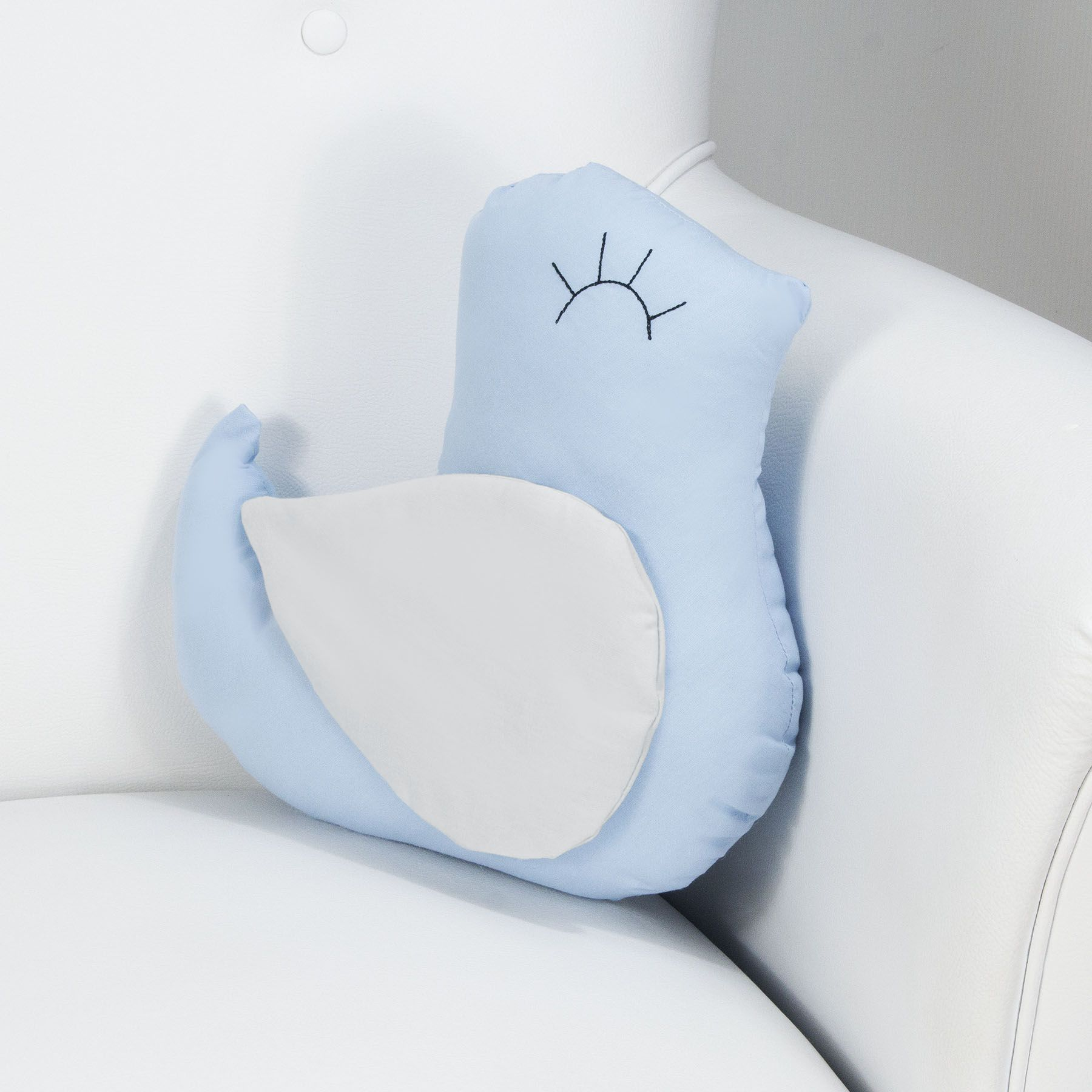 Almofada Passarinho - Azul