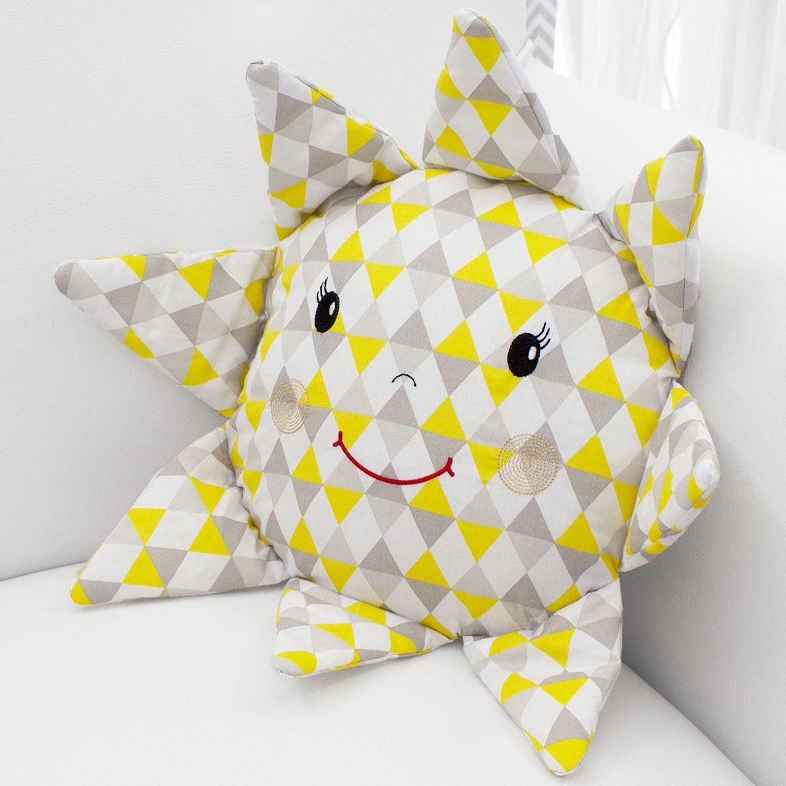 Almofada Sol - Losango Amarelo