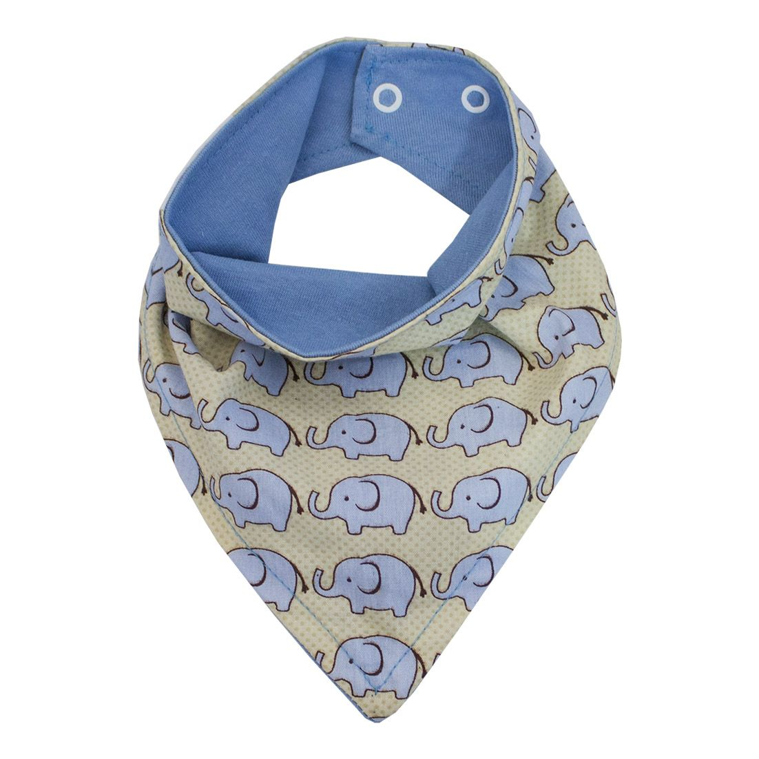 Babador de Bandana - Elefante Azul