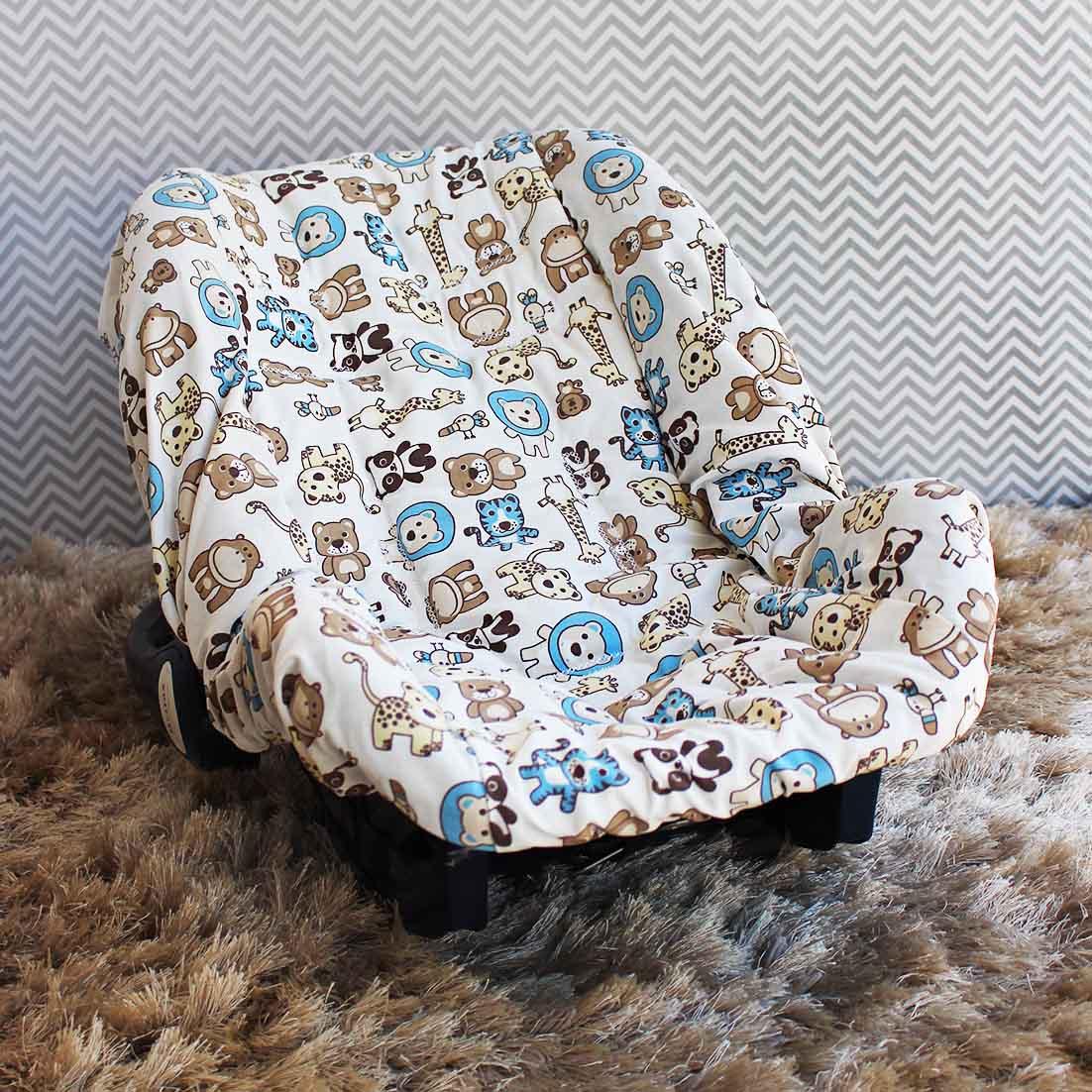Capa de Bebê Conforto Adapt Bichinhos Azul