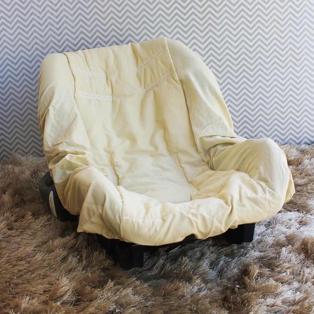 Capa de Bebê Conforto Adapt - Caqui c/ Branco