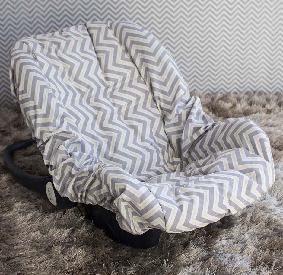 Capa de Bebê Conforto Adapt - Chevron Amarelo