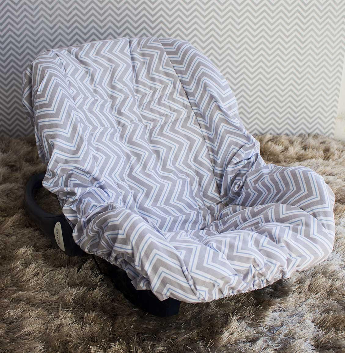 Capa de Bebê Conforto Adapt Chevron Azul