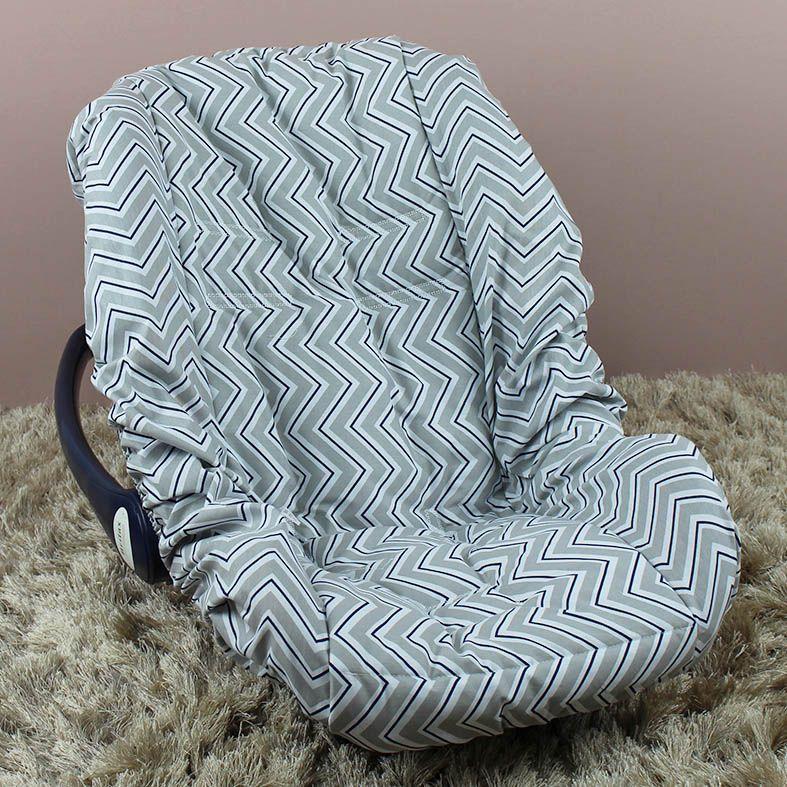 Capa de Bebê Conforto Adapt Chevron Marinho