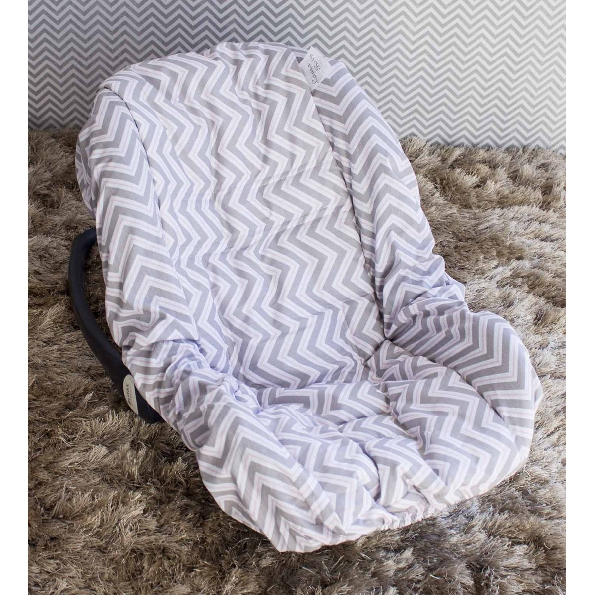 Capa de Bebê Conforto Adapt Chevron Rosa
