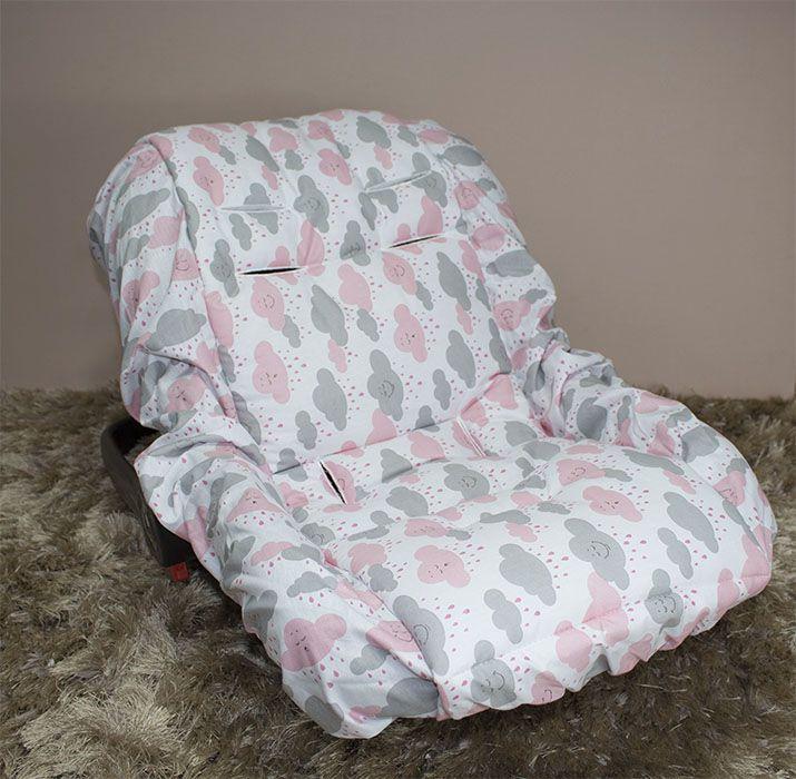 Capa de Bebê Conforto Adapt - Chuva de Benção Rosa