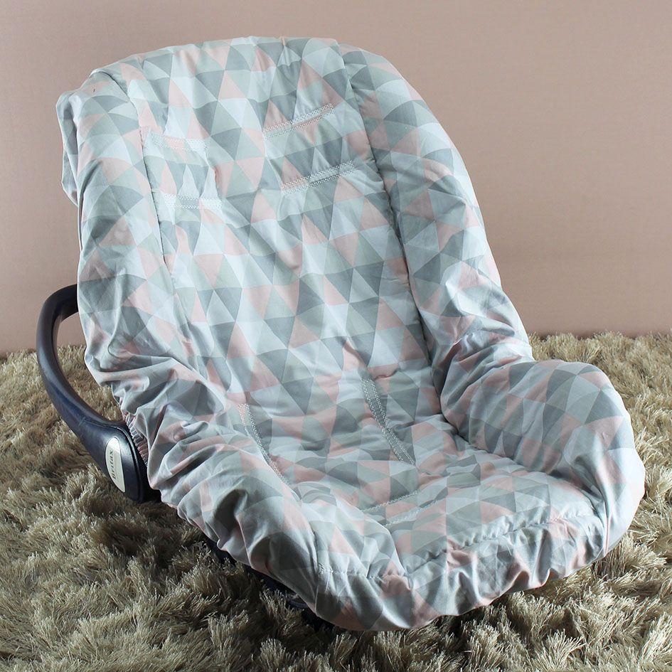 Capa de Bebê Conforto Adapt - Losango Rosa