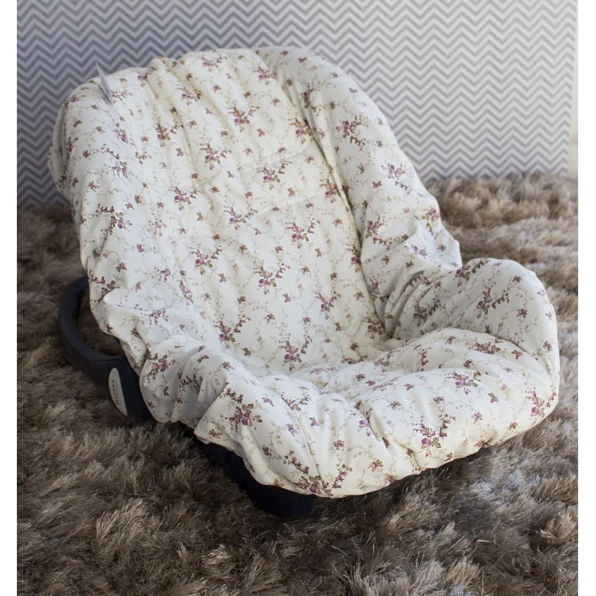 Capa de Bebê Conforto Adapt Nervura Ferrugem Floral
