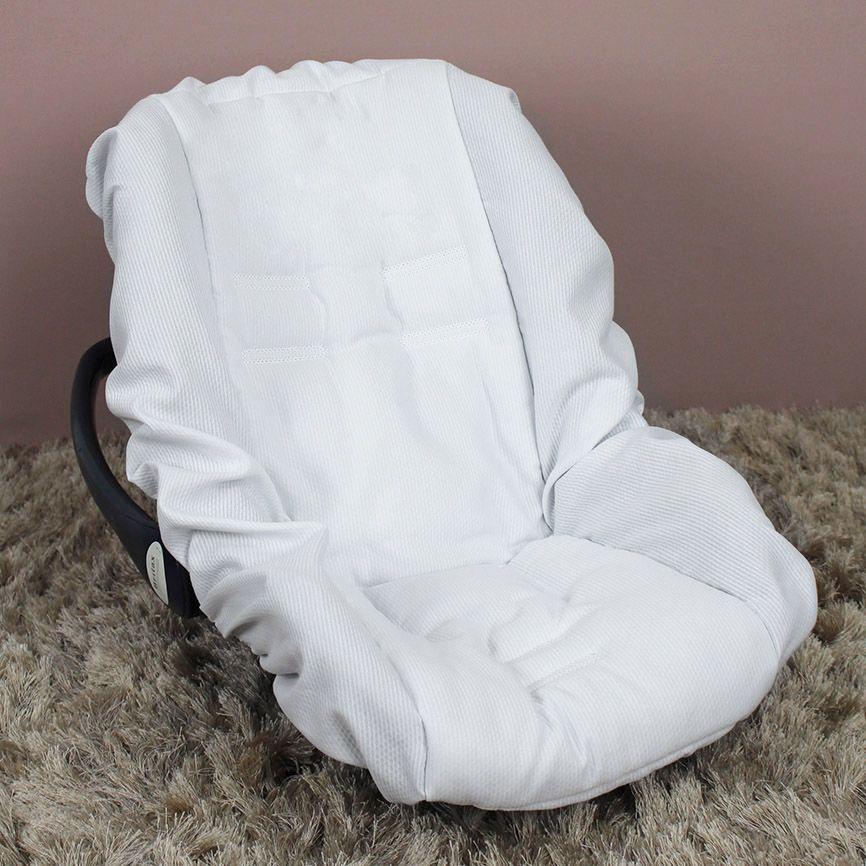 Capa de Bebê Conforto Adapt - Piquet Branco